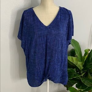 Dana Buchanan short-sleeve BLUE blouse size XL